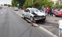 Accident auto in Turnu-Magurele, cartierul Catanga.