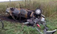 Tragic accident rutier la iesirea din Turnu Magurele spre Ciuperceni.