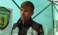 Vali Badoi, antrenorul Sportingului, nu este multumit de jocul elevilor sai.