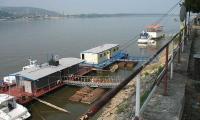Marinar salvat din apele fluviului Dunarea de politistii de frontiera.