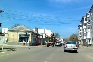 Intersectie semaforizata la Turnu-Magurele.