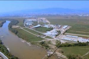 Vedere aeriană a zonei industriale din Ciugud.