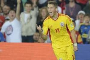G.Grozav se bucura dupa golul inscris Turciei.  foto:gsp