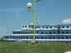 nava pasager din ucraina acostata in gara fluviala tulcea